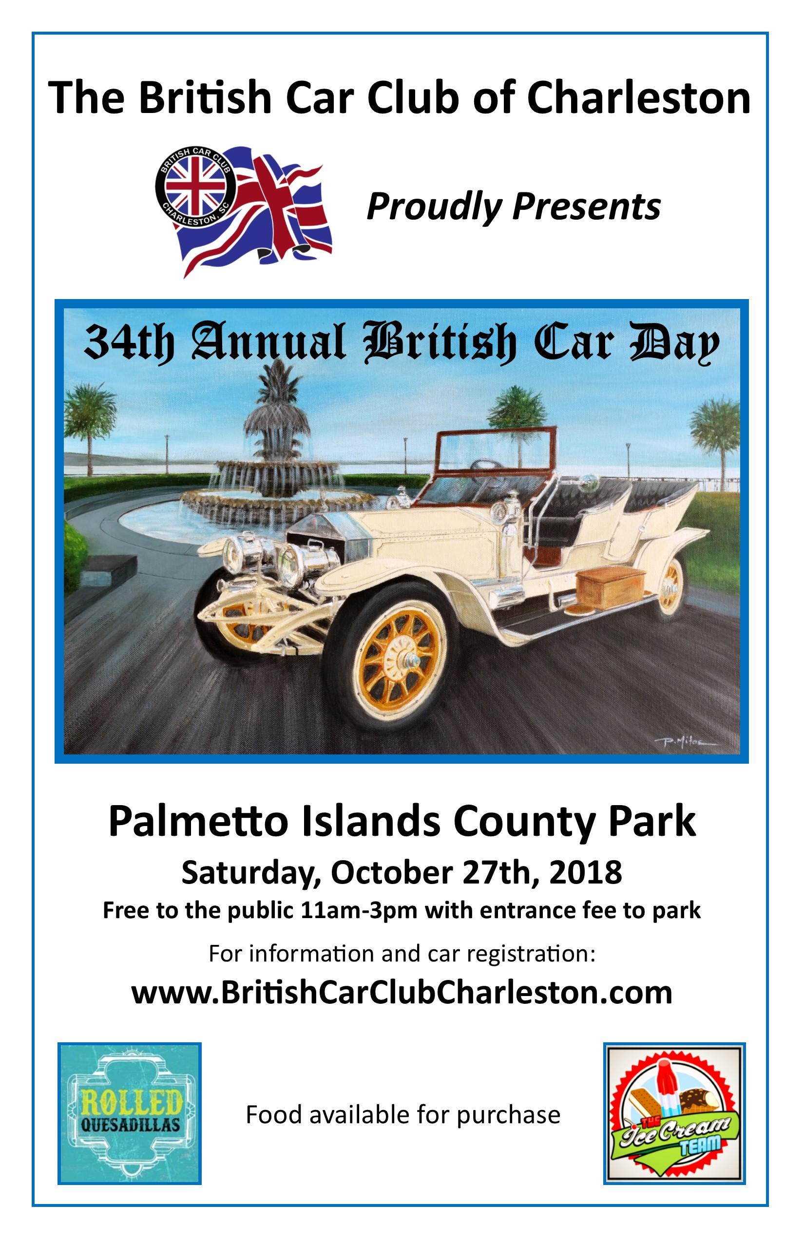 Events British Car Club Midlands Centre - Charleston car show calendar